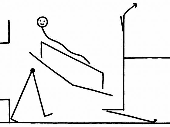 """Michał Gayer, """"Chodzę, leżę, siedzę i coś się pojawia. Kornel Janczy"""", rysunek tuszem na papierze, 2018 (źródło: materiały prasowe organizatora)"""
