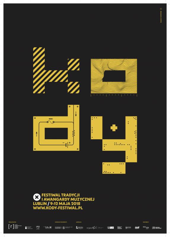 X Festiwal Tradycji i Awangardy Muzycznej KODY, plakat (źródło: materiały prasowe organizatora)