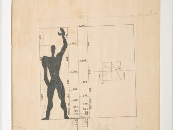 """Jerzy Sołtan, """"Modulor. Studium nowego systemu wymiarowania, opracowane w pracowni Le Corbusiera"""", 1948, kolekcja Muzeum ASP w Warszawie (źródło: materiały prasowe organizatora)"""