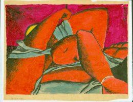 """Jerzy Sołtan, """"Le repos"""", 1951, kolekcja Muzeum ASP w Warszawie (źródło: materiały prasowe organizatora)"""