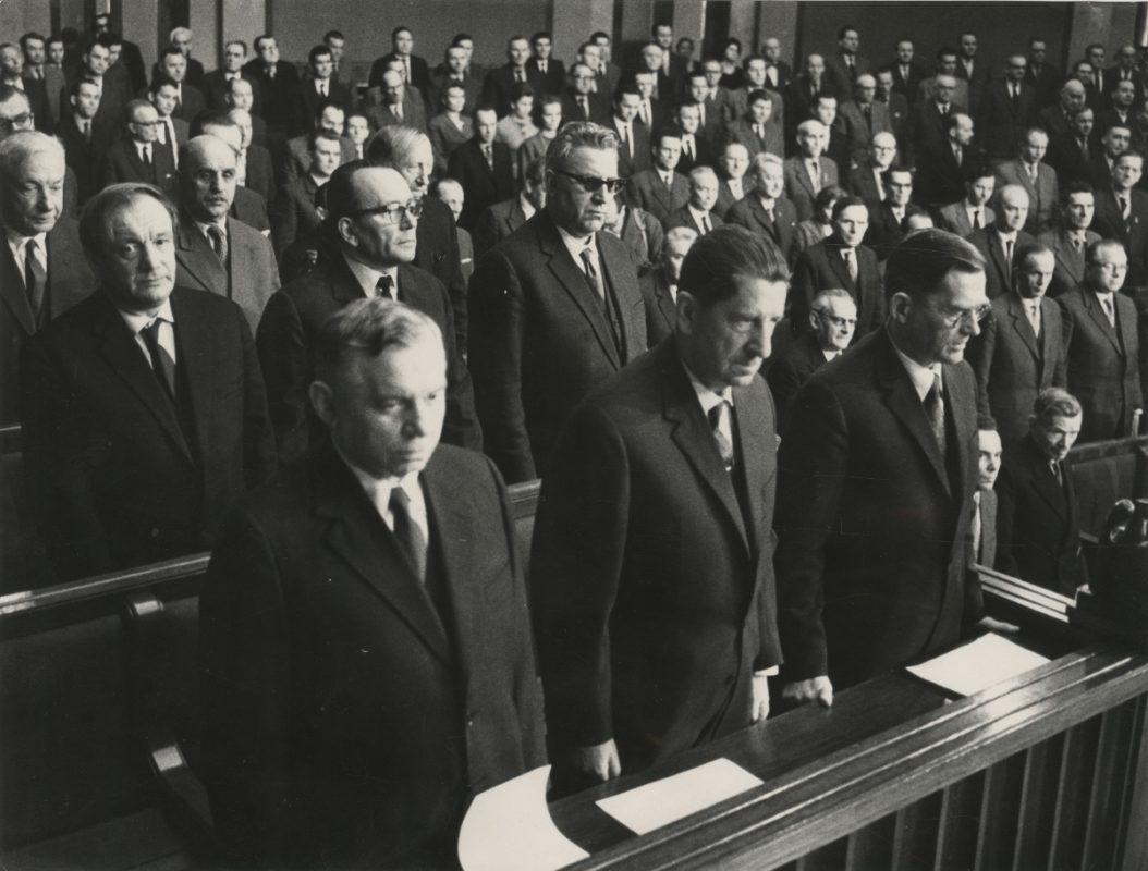 Posłowie w Sejmie Ustawodawczym, ok. 1952, fot. archiwum ZNiO (źródło: materiały prasowe organizatora)