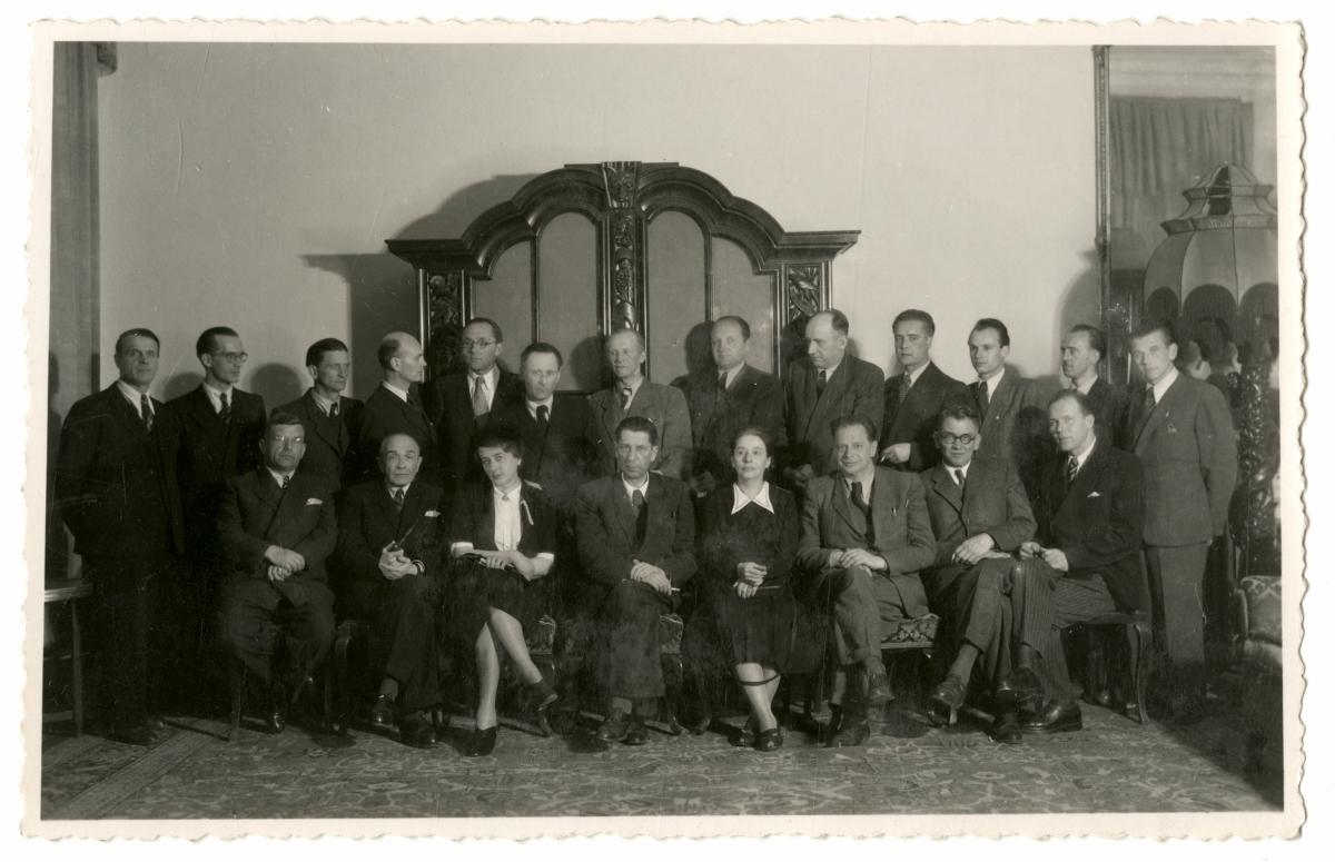 Grupa Naukowo-Kulturalna w końcu lat 40, fot. archiwum ZNiO (źródło: materiały prasowe organizatora)