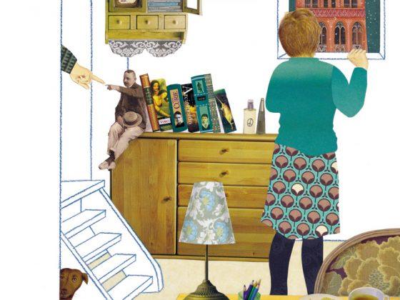 """Ilustracja z książki """"Cztery strony czasu"""" Iwony Chmielewskiej (źródło: materiały prasowe organizatora)"""