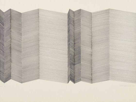 """Wanda Gołkowska, Seria Fi """"5"""", 1991, rysunek, papier, 52 x 70 cm (źródło: materiały prasowe organizatora)"""