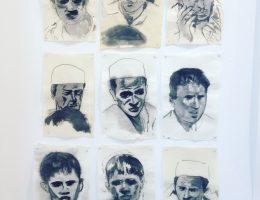 """Sawangwongse Yawnghwe, """"Portret łodzi Rohingya"""", 2015, farba olejna na papierze, dzięki uprzejmości artysty i Canada Council for the Arts (źródło: materiały prasowe organizatora)"""