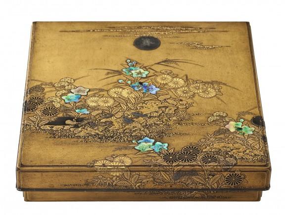 """Igarashi Doho I, """"Suzuribako"""" – szkatułka na przybory do kaligrafii Suzuribako wyposażone w kamień do rozcierania tuszu, dozownik wody i kasetkę na pędzle (źródło: materiały prasowe organizatora)"""