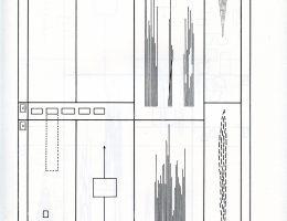 """Bogusław Schaeffer, """"Symfonia-Muzyka elektroniczna"""", 1964, 1 strona partytury (źródło: materiały prasowe organizatora)"""