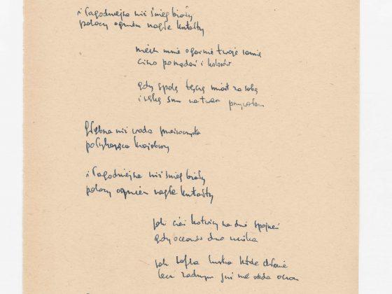 """Z. Herbert, """"Do czerni. Wiersze z lat 1950–1975"""", Muzeum Pana Tadeusza we Wrocławiu (źródło: materiały prasowe organizatorów)"""