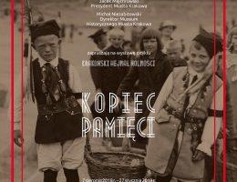 """Plakat wystawy """"Krakowski Hejnał Wolności: Kopiec pamięci"""", Muzeum Historyczne Miasta Krakowa (źródło: materiały prasowe organizatorów)"""