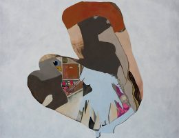 """Agnieszka Sandomierz, """"Biały"""", 2018, tempera żółtkowa, 122 x 135 cm (źródło: materiały prasowe organizatora)"""