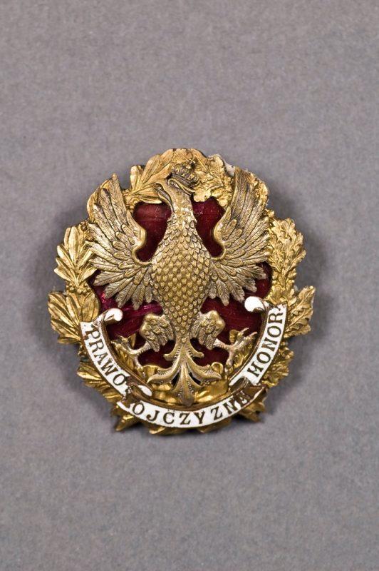 Odznaka adwokacka Prawo Ojczyzna Honor, Polska, 1924–1929, mosiądz, emalia, bicie, fot. © MNG (źródło: materiały prasowe organizatorów)
