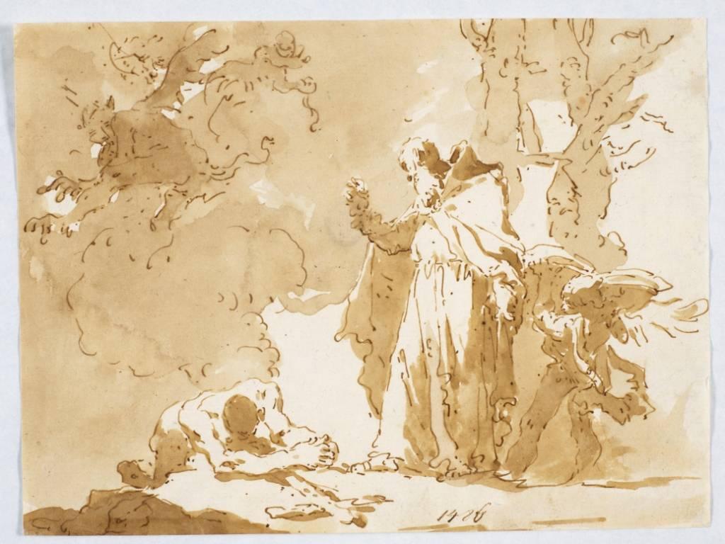 """Giovanni Battista Tiepolo, """"Św. kapucyn nawracający heretyka"""", Muzeum Narodowe w Gdańsku, fot.© Muzeum Narodowe w Gdańsku (źródło: materiały prasowe organizatora)"""