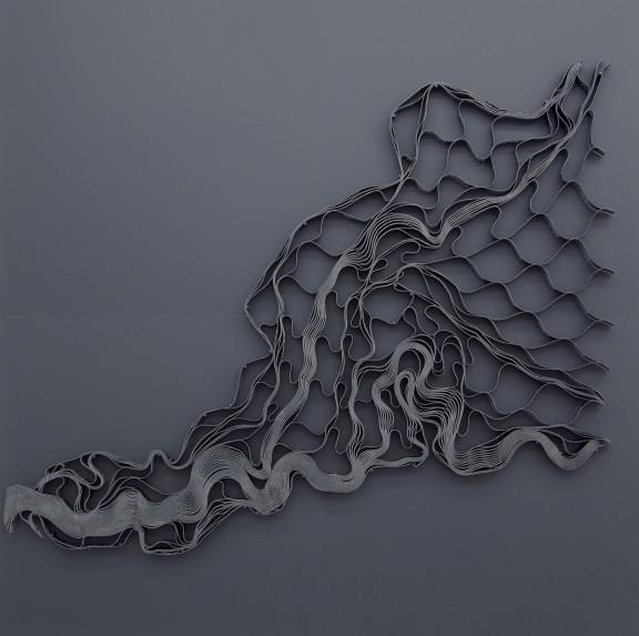 """Ella Littwitz, """"71941"""", 2018 geokrata, drewno, metal, 240 × 240 cm dzięki uprzejmości Harlan Levey Projects (materiały prasowe organizatora)"""