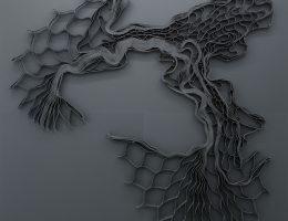 """Ella Littwitz, """"1083248"""", 2018 geokrata, drewno, metal, 240 × 240 cm, dzięki uprzejmości Harlan Levey Projects (materiały prasowe organizatora)"""