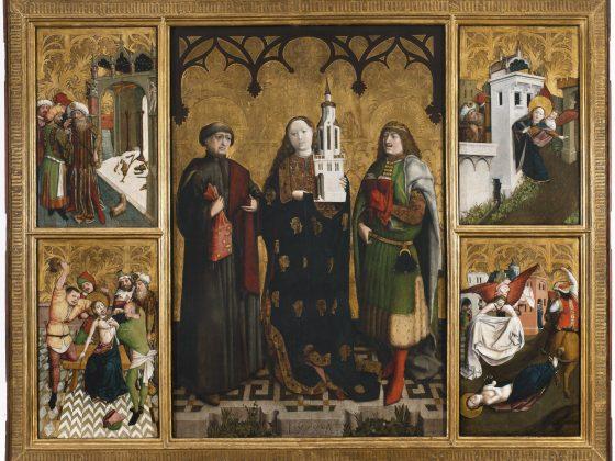 """Wilhelm Kalteysen von Oche, """"Ołtarz św. Barbary"""", środkowa tablica, 1447 r., Muzeum Narodowe w Warszawie (źródło: materiały prasowe organizatorów)"""