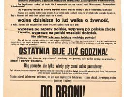 Afisz z odezwą Komitetu Obrony Państwa, 1920 (źródło: materiały prasowe organizatora)