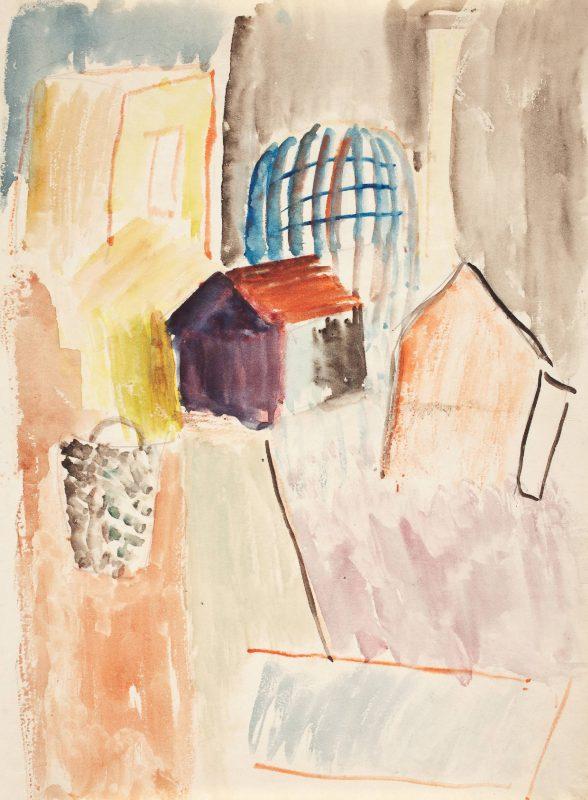 """""""Kompozycja z klatką"""", Maria Jarema, ok. 1930, fot. Arkadiusz Podstawka (źródło: materiały prasowe organizatora)"""