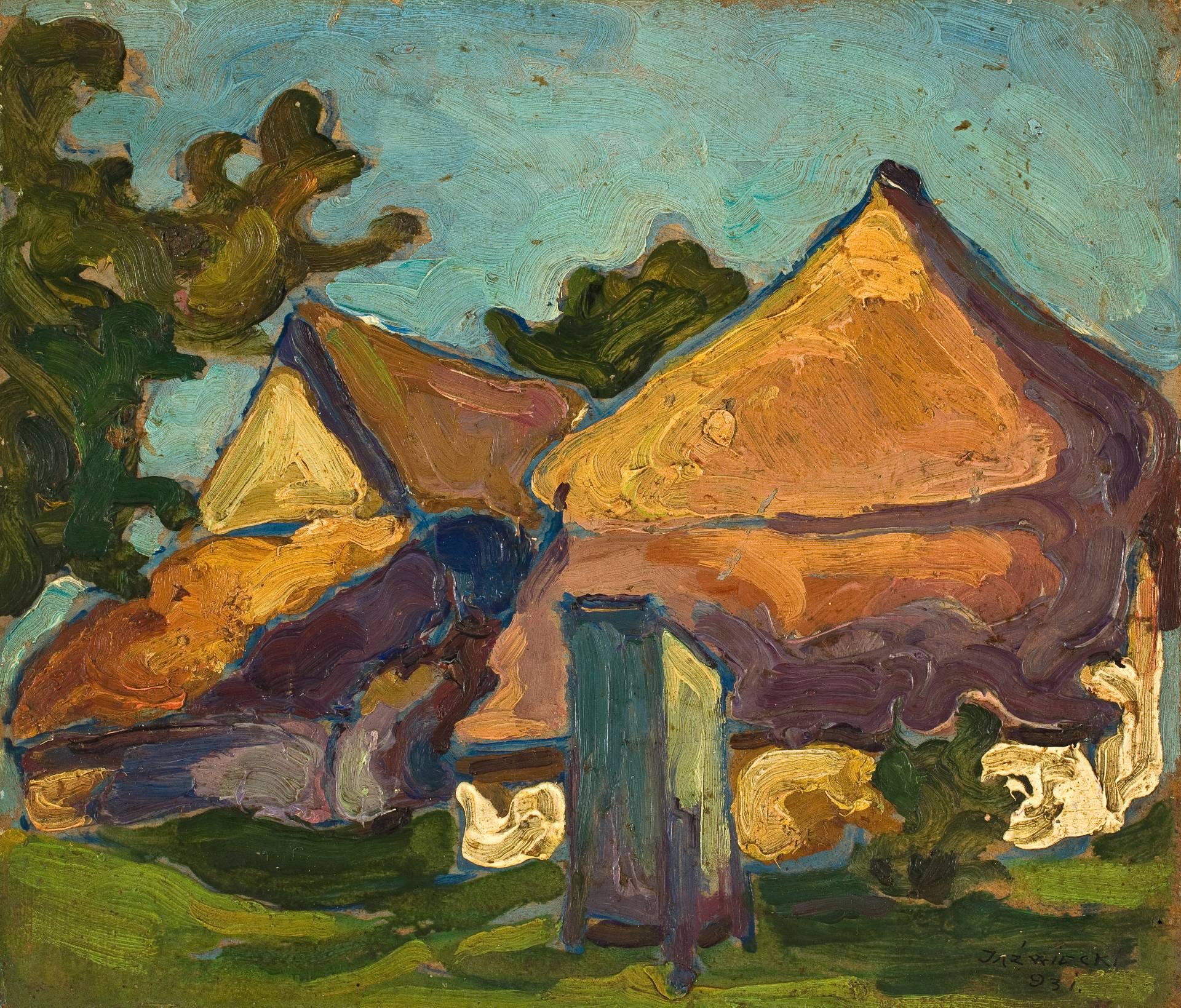 """""""Chaty"""", Franciszek Adam Jaźwiecki, 1931, fot. Arkadiusz Podstawka (źródło: materiały prasowe organizatora)"""