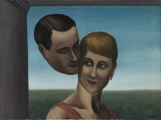 """Rene Magritte, """"Kochankowie"""", 1928, CSW Znaki Czasu w Toruniu (źródło: materiały prasowe organizatorów)"""