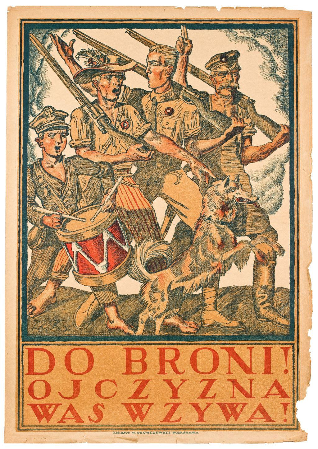 Plakat werbunkowy autorstwa Zygmunta Kamińskiego, 1920 (źródło: materiały prasowe organizatora)