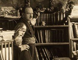 Profesor Marian Morelowski w swym wileńskim mieszkaniu, lata trzydzieste XX w. (źródło: materiały prasowe organizatora)
