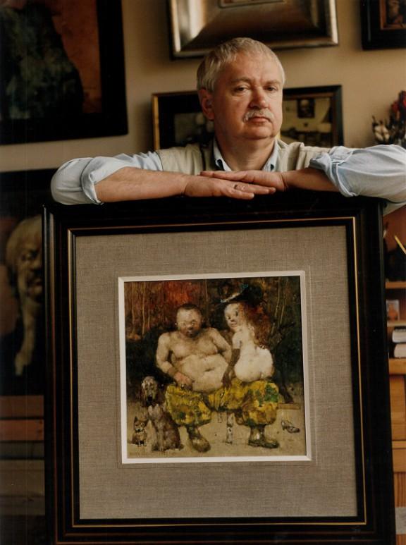 """Janusz Mielczarek """"Portret Jerzego Dudy-Gracza"""" (źródło: materiały prasowe organizatora)"""