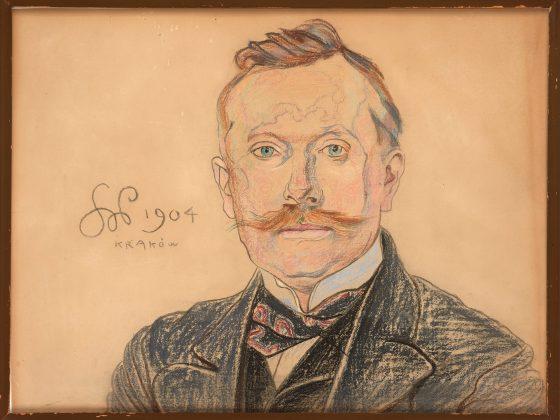 Stanisław Wyspiański, Portret doktora Jana Raczyńskiego, 1904. Pastel, papier, 61,5 x 46,5 cm