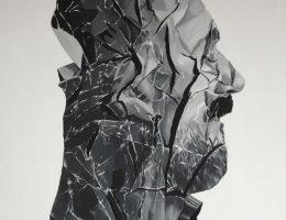 Bartek Jarmolinski, Odpad 2, akryl, płótno, 110 × 100 cm (Źródło: materiały prasowe organizatora)