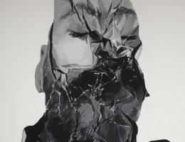 Bartek Jarmolinski, Odpad 3, akryl, płótno, 110 × 100 cm (Źródło: materiały prasowe organizatora)