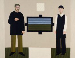"""Ignacy Czwartos, """"Wariat i Zakonnica – portret małżeński"""", 2008, ol. pł., 180 × 200 cm, własność artysty (źródło: materiały prasowe organizatora)"""