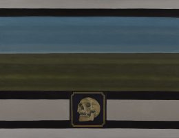 """Ignacy Czwartos, """"Memento mori, 2016"""", 2015, ol. pł., 95 × 150 cm, własność Fundacji Nowa Przestrzeń Sztuki (źródło: materiały prasowe organizatora)"""