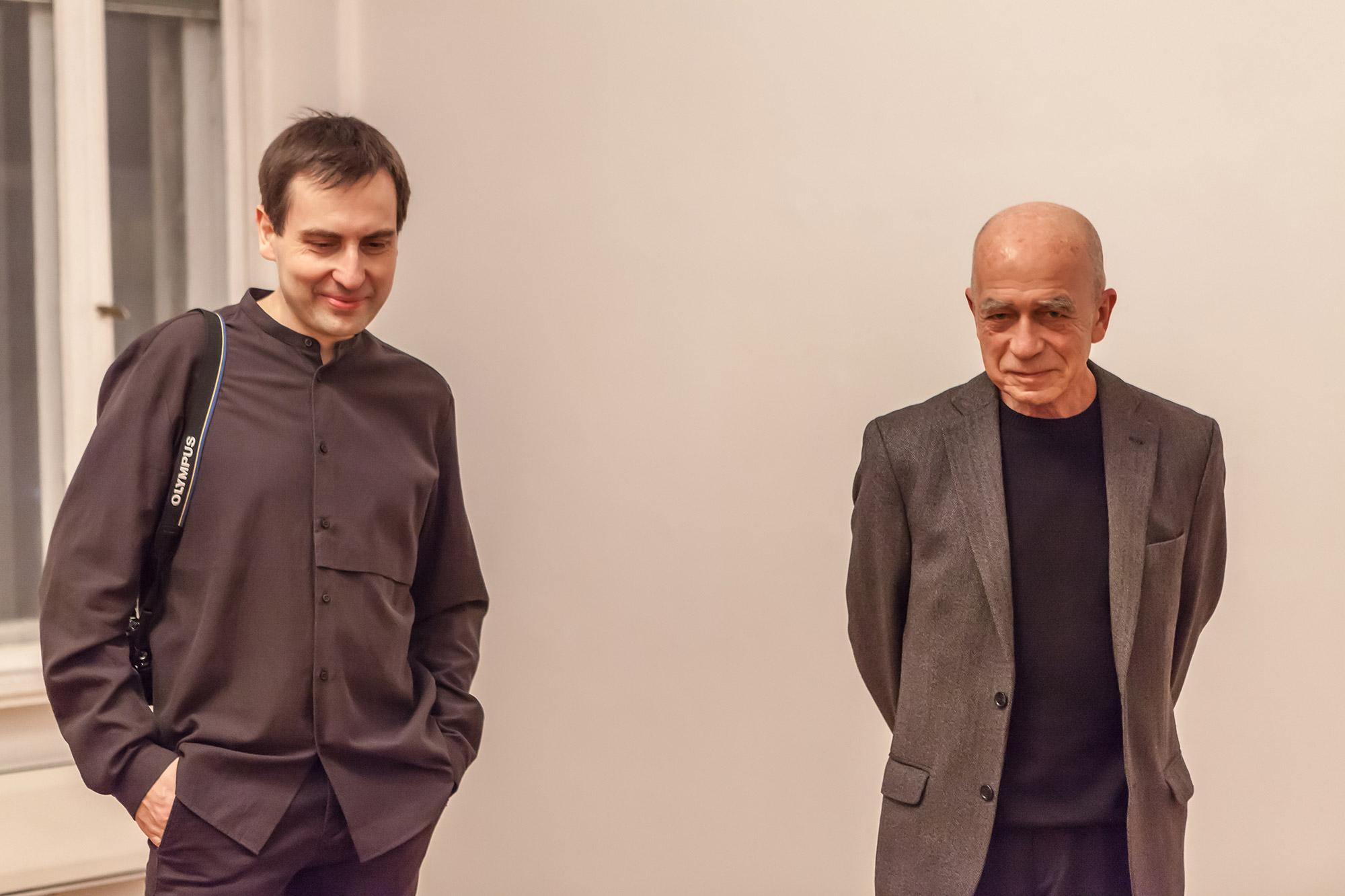 Mikołaj Poliński i Jarosław Kozłowski w Galerii Muzalewska, fot Galeria Muzalewska (źródło: materiały prasowe)