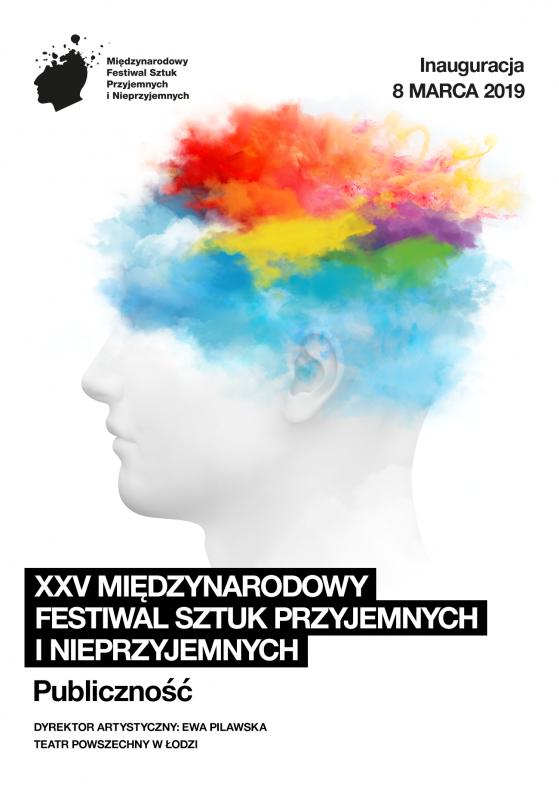 Plakat XXV Międzynarodowego Festiwalu Sztuk Przyjemnych i Nieprzyjemnych (źródło: materiały prasowe organizatora)