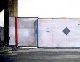 Price Narbi, Obraz podwórza bez tytułu (Albert) / Untitled Yard Painting (Albert), 2015, akryl na płótnie/Acrylic on canvas, fot. © Priseman Seabrook Collection (źródło: materiały prasowe)