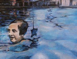 Tucker Judith, Evi pływa / Evi Swims, 2007,olej na płótnie / Oil on canvas, fot. © Priseman Seabrook Collection (źródło: materiały prasowe)