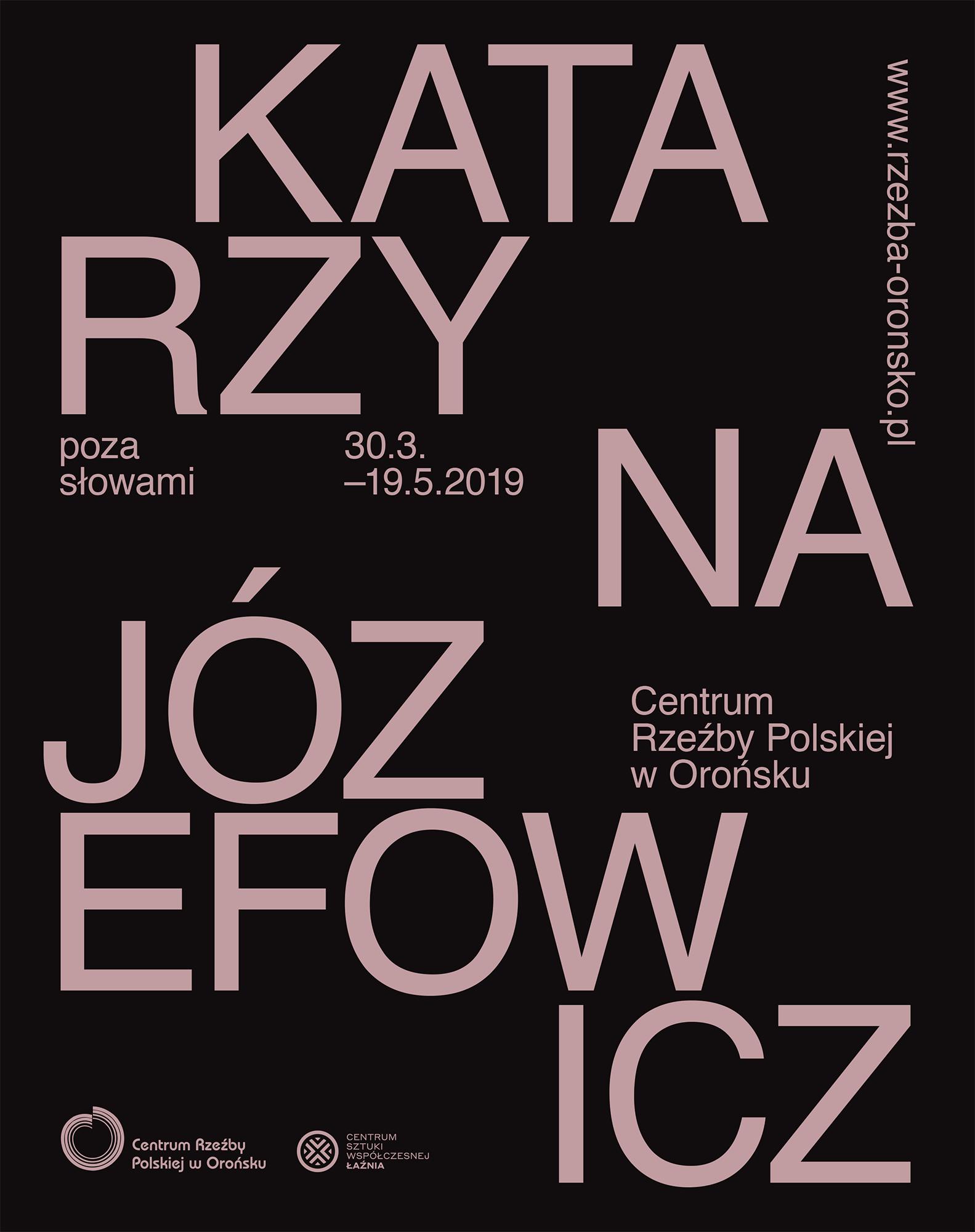Plakat wystawy: Poza słowami – Katarzyna Józefowicz (źródło: materiały prasowe)