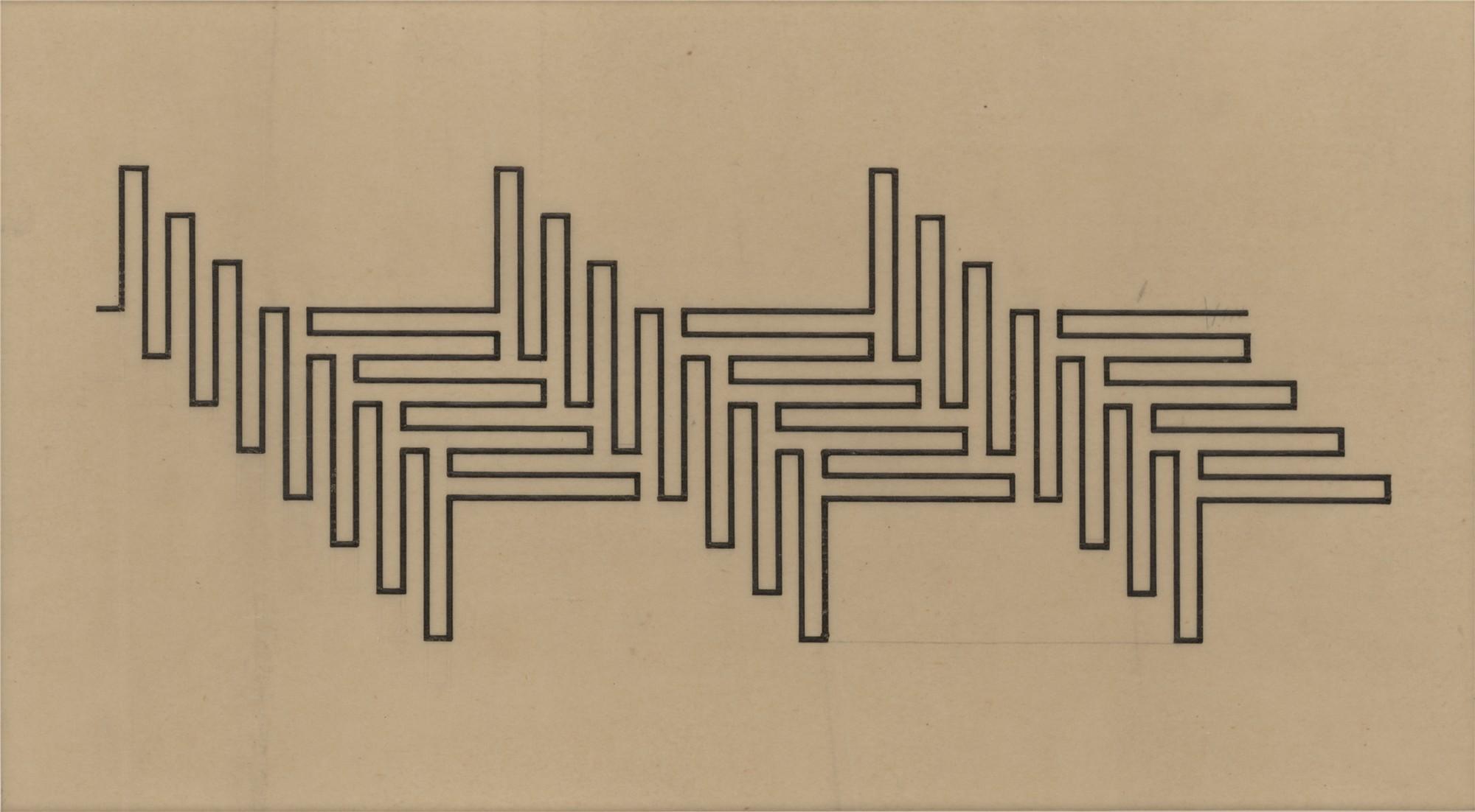 Wacław Szpakowski, Z serii A: A 1, 1930, kalka, tusz (źródło: materiały prasowe)