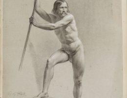 Jan Nepomucen Głowacki, Studium aktu męskiego, papier, 1845, Muzeum Narodowe w Krakowie (źródło: materiały prasowe)
