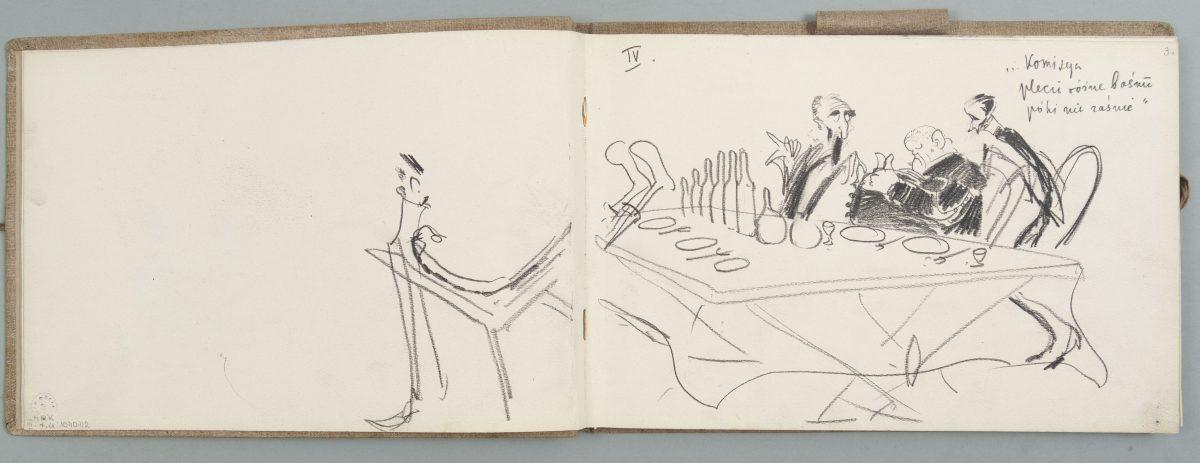 Kazimierz Sichulski, Szkicownik, ołówek papier, 1933, Muzeum Narodowe w Krakowie (źródło: materiały prasowe)
