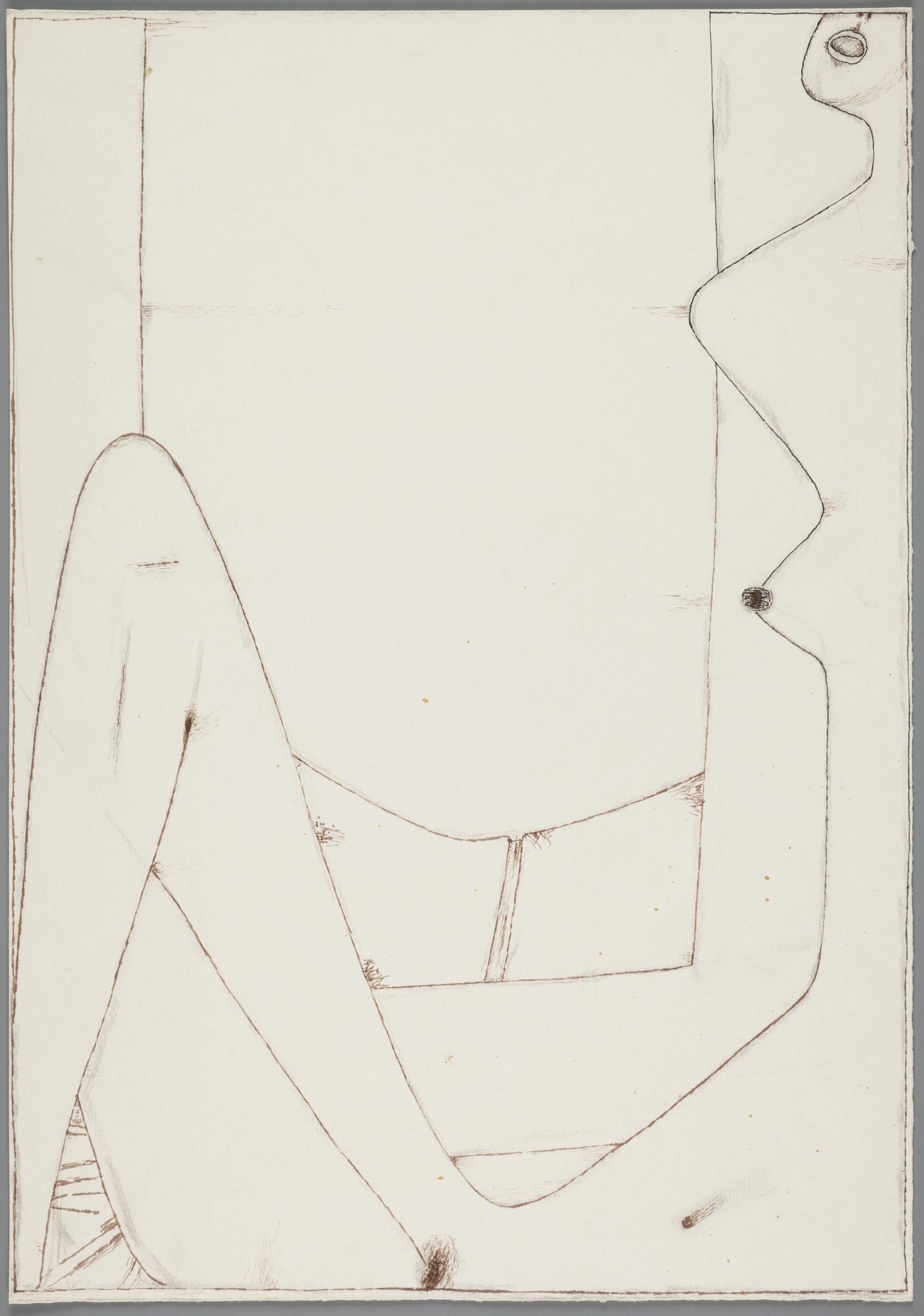 Jerzy Nowosielski, Akt z oknem, karton, tusz, 1966, Muzeum Narodowe w Krakowie (źródło: materiały prasowe)