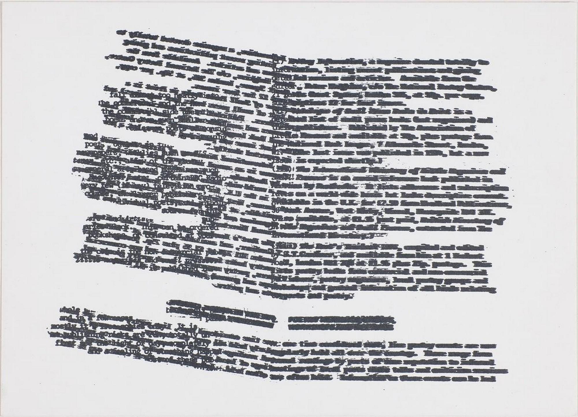 Bob Cobbing, bez tytułu / untitled, grafika, 1976 (źródło: materiały prasowe)