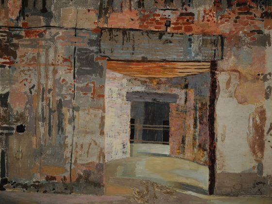 Aleksandra Simińska, 1993, Pałac w Samostrzelu, 1993, technika mieszana na kartonie, 367×426 (źródło: materiały prasowe)