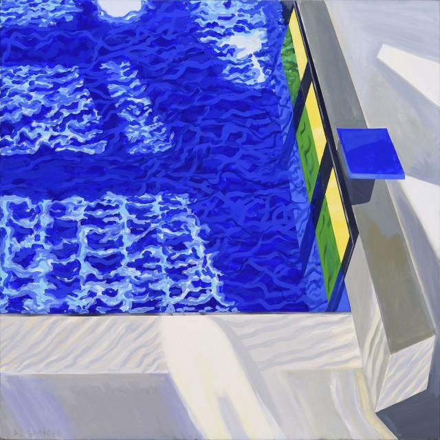 Aleksandra Simińska, 2008, Pamięć wody II, 2008, olej płótno, 150×150, fot. W. Woźniak (źródło: materiały prasowe)
