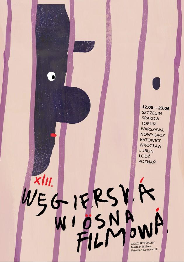 Plakat festiwalu XIII Węgierska Wiosna Filmowa (źródło: materiały prasowe)